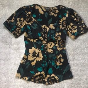 Guess Floral Silk Top Size S